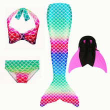 Girls Mermaid Tails Bra Shorts Swimsuit Cosplay Dress Mermaid Tail Clothing Swimming Wear Flipper Costume