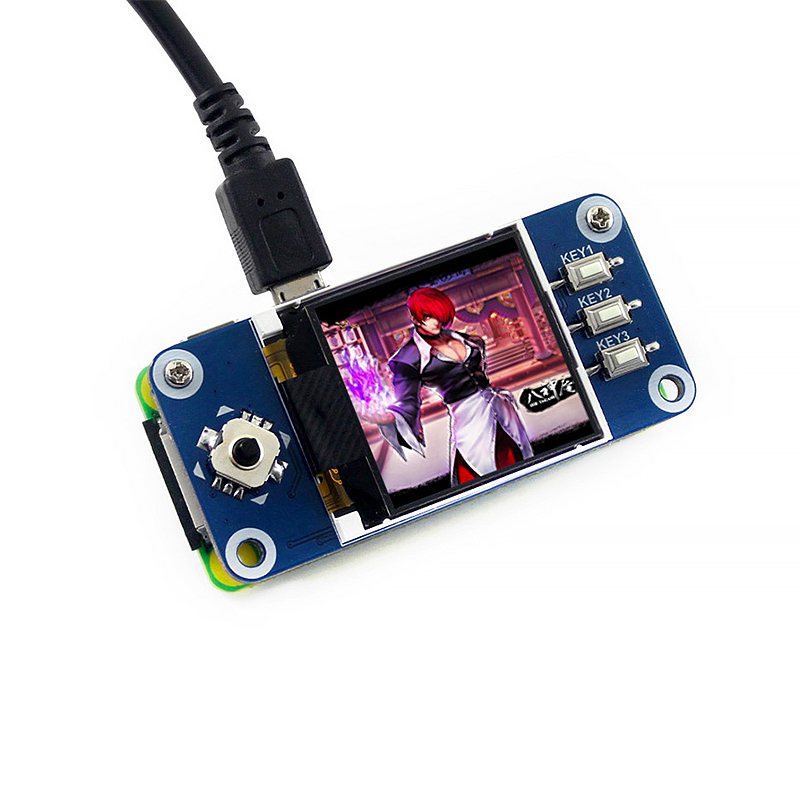1.44 Inch LCD Display Hat For Raspberry Pi 4B/3B+/3B/Zero 128x128 Pixels SPI Interface 3.3V LED Backlight Screen