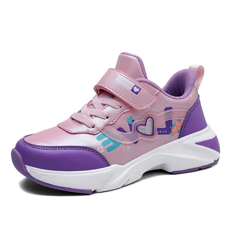 2019 Spring/Autumn Children Leather Kids Sneaker Girls Boys Shoes School Sport Running Breathable Soccer Contrast Shoes EUR28-38