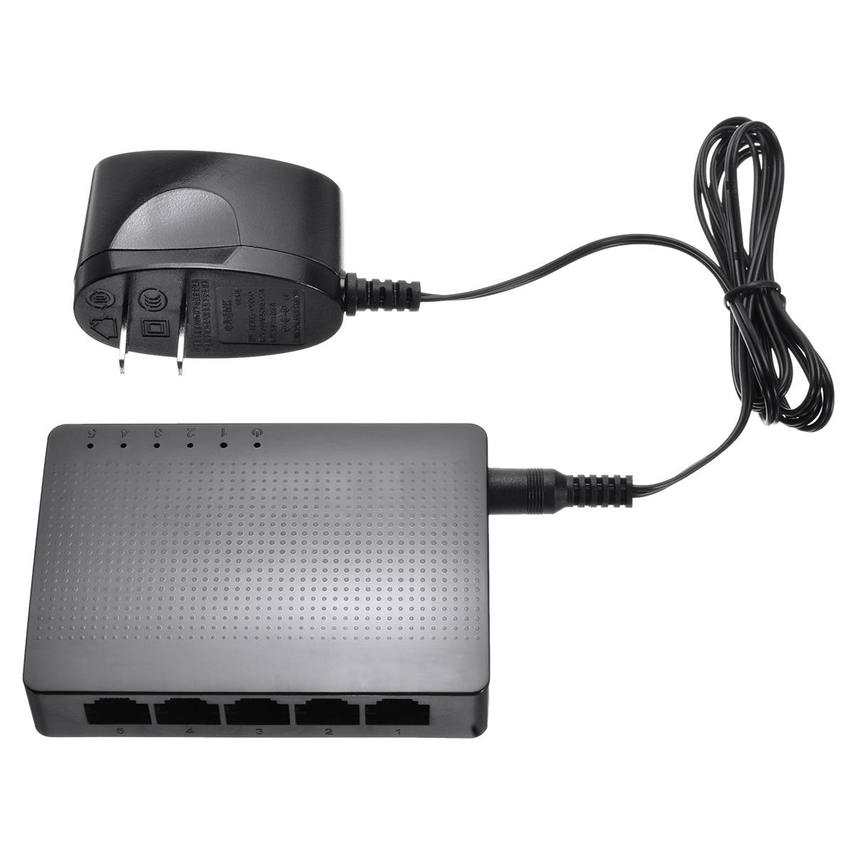 Для Windows 10/8/7/Vista/XP 1 шт. десять-da сети SG105 5-с одним портом, Настольная Gigabit Ethernet сетевой коммутатор Gigabit LAN концентратор 1000 м ABS Пластик Mayitr
