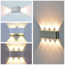 Classic indoor wall lamp 2W 4W 6W 8W LED aluminum wall lights Modern Living room Bedroom Corridor Stairs wall mounted sconce(China)