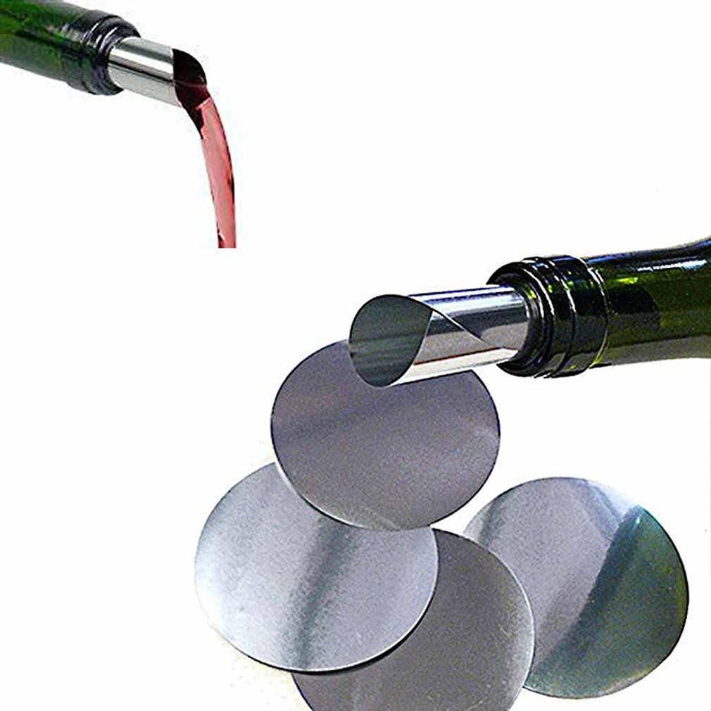 Bộ 50 Đỏ Rượu Vang Đổ Rượu Vang Đỏ Rượu Vang Tấm Chống Rò Rỉ Viền Nhôm 3 Inch Bạc Nhỏ Giọt Chống rượu Rót Đĩa
