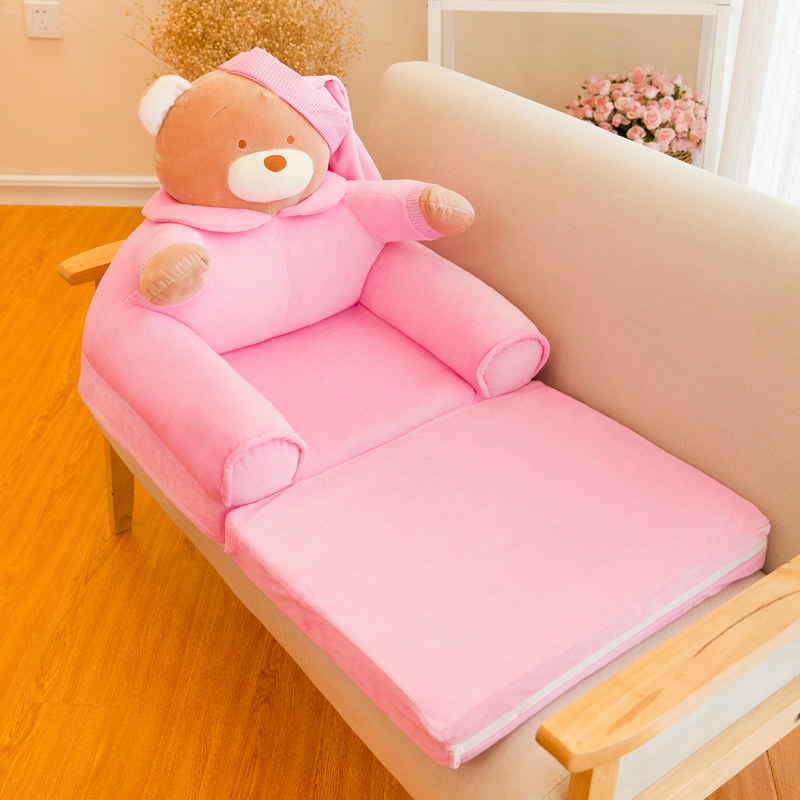 Cartoon Folding Small Sofa For Girl Boy Reading Seat Cute Princess Children's Baby Sofa Kids Bed Baby Furniture Bean Bags