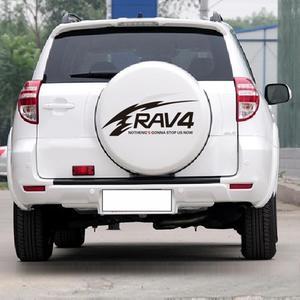 Image 2 - Auto Aufkleber Reflektierende Rav4 Ersatz Reifen Aufkleber Zurück Reifen Aufkleber Reserverad Abdeckung Decals Für Toyota