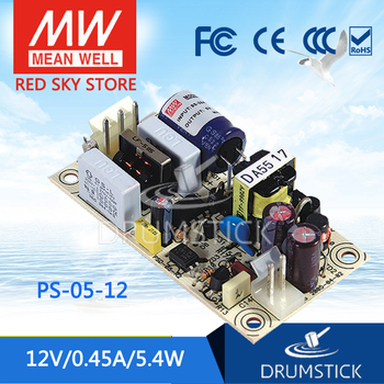 friendly MEAN WELL 12Pack PS-05-12 12V 0.45A meanwell PS-05 12V 5.4W Single Output Switching Power Supply
