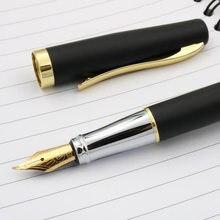 Duke clássico 209 caneta tinteiro dourado preto fosco 1.0mm dobrado fude nib tinta negócio estacionário