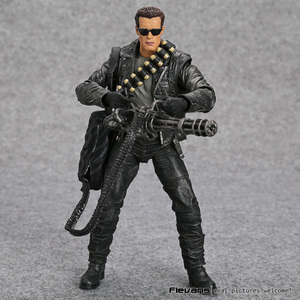 "Image 2 - NECA Terminator 2: dzień sądu T 800 Arnold Schwarzenegger pcv figurka Model kolekcjonerski Toy 7 ""18cm"