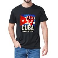 Unisex 100% Katoen Cuba Patria Y Vida Vintage Zomer Mannen Nieuwigheid Oversized T-shirt Libre Tee Vrouwen Casual Streetwear Gift