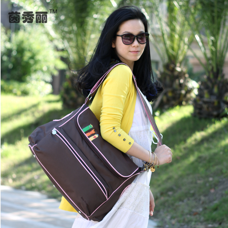 Waterproof Messenger Diaper Bag Large Capacity Multifunctional Maternity Mother Bag British Style Fashion Baby Stroller Bags 45