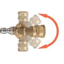 Быстрое соединение, Поворотный соединитель, 1/4 дюйма, быстрая розетка + 1/4 дюйма, аналогично для автомойки высокого давления