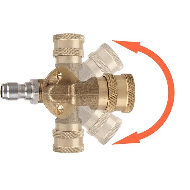 """Raccord rapide coupleur pivotant 1/4 """"prise rapide + 1/4"""" prise de déconnexion rapide pour lave auto nettoyeur haute pression"""