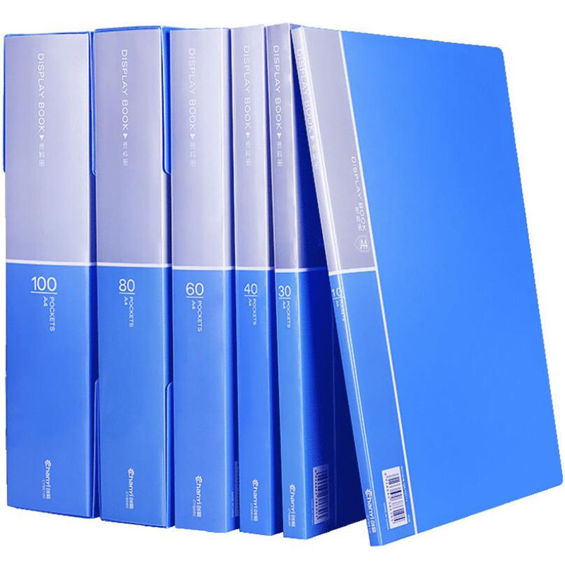 A4 10/20/30/40/60/80/100 Pages File Information Book Paper Folder Student Bag Multi-Layer Document Music Folders Office Supplies