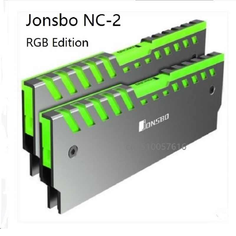 2 Pcs Ram Heatsink Dukungan Papan Utama Aura Kontrol Warna Desktop Memori Pendingin Rompi NC-2 RGB Aluminium Cooler Shell