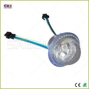 Image 5 - DC12V 26mm קוטר שקוף כיסוי ws2811 LED מודול חשוף נקודת אור 3 נוריות 5050 SMD RGB שבבי led פיקסל עמיד למים IP68