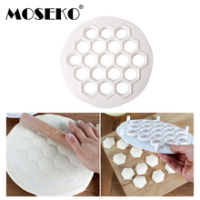 MOSEKO 19 Holes Dumpling Mould Tools Dumplings Maker Ravioli Mold Pelmeni Kitchen DIY Make Pastry