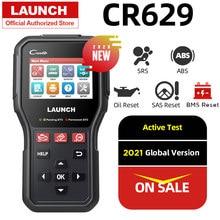 Novo lançamento cr629 obd2 scanner abs srs leitor de código obd 2 autoscanner teste ativo obdii scanner carro