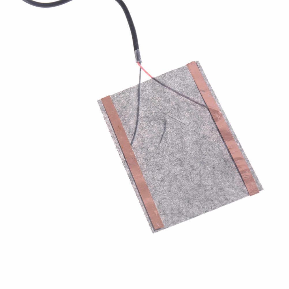 2 sztuk 8*10cm 5V z włókna węglowego poduszka elektryczna ogrzewacz dłoni USB folia grzewcza elektryczna zima podczerwieni gorączka mata grzewcza