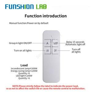 Image 4 - FUNSHION Interruptor de Control remoto Digital inalámbrico, 1 vía, CA 220 V, RF, Control remoto, Panel de ventilador de techo, interruptor de Control para bombilla