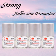 Special price 3M adhesive Primer Adhesion promoter 10ML increase the adhesion Car Wrapping Application Tool car-styling for tape 5 rolls 9mm 50 meters 3m double face high adhesion adhesive black tape for home appliance control panel car parts screen fix