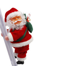 Santa Claus Ornament Singing Electric Stair Climbing Toy for Christmas Decoration _WK