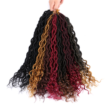 Braiding-Hair-Extensions Crochet-Hair Curly Dreadlocks Faux-Locs Hair-18'' Synthetic