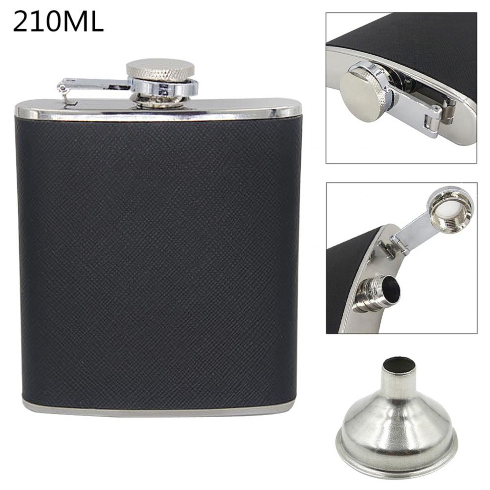 7oz  Portable Stainless Steel Hip Flask With Funnel And 210ML Capacity For Festival Gift