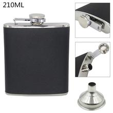 Hip-Flask Portable with Funnel And 210ml-Capacity for Festival Gift Stainless-Steel 7oz