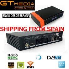 Gtmedia v8 nova DVB-S2 receptor de satélite suporte h.265 cam newcad potência vu biss construído wifi gt mídia