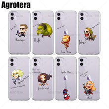 Agrotera Hawkeye Hulk Iron Man Joker Quicksilver Scarlet Witch Bening TPU Case PENUTUP UNTUK iPhone 6 6 S 7 8 plus X XS XR 11 Pro Max(China)