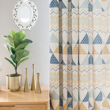 Fashion Geometric Custom Curtain Contracted Contemporary Curtains for Living Room Bedroom Shading Nordic Day Type Style 089&30