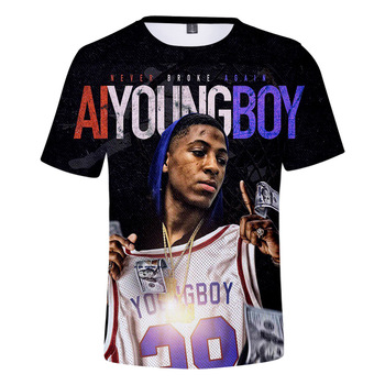 YoungBoy Never Broke Again T Shirts Men/Women 3D Print Rapper Singer Character Patterns Personality Short Sleeve Funny Tshirt - discount item  42% OFF Tops & Tees