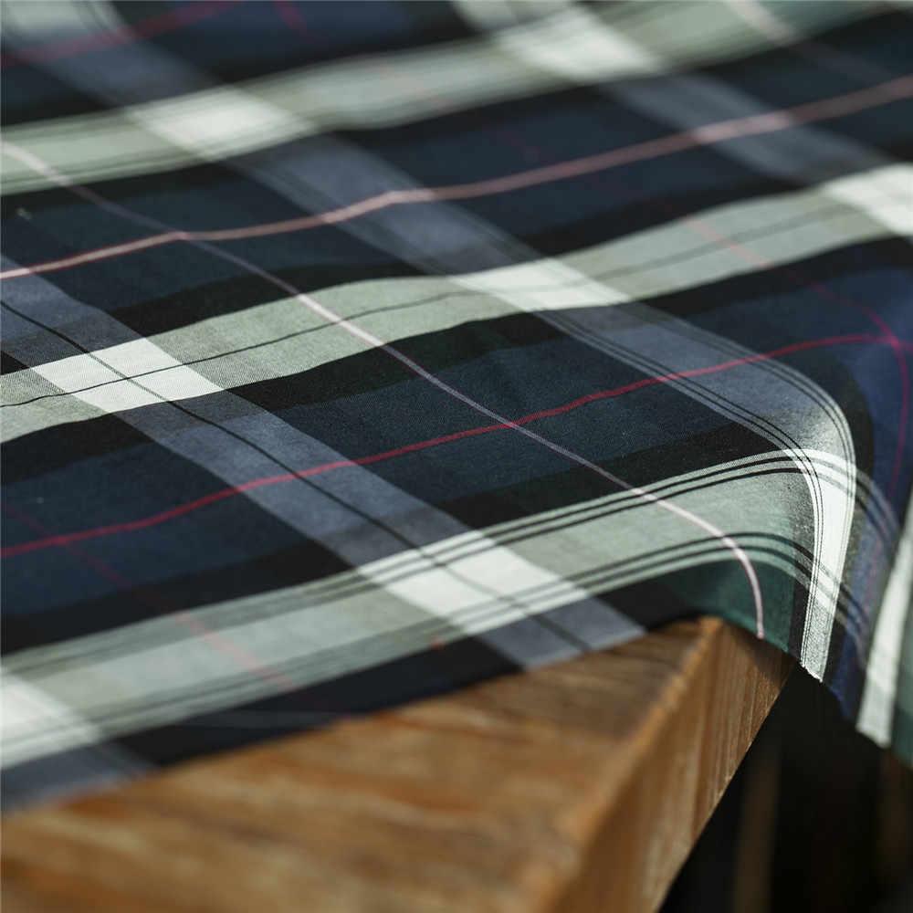 Retro tinto in filo navy controllare e plaid di seta modello misto tessuto di cotone, di cucito per il vestito, gonna, camicetta, camicia, artigianale dal cantiere