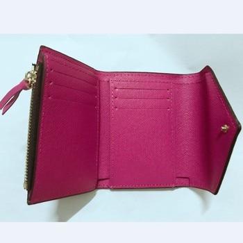 218# wallet womens 9 color fashion designer short clip Leather Wallet classic single zipper pocket ladies purse