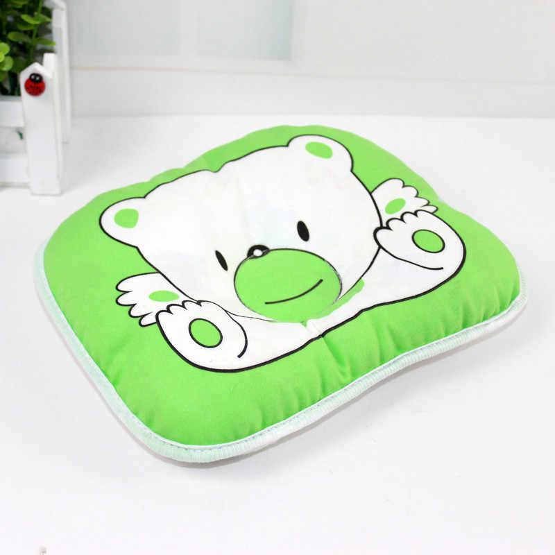 1 PC ทารกแรกเกิดหมีรูปแบบหมอนทารกเบาะรองนั่ง Pad ป้องกันหัว Shaping หมอนนอนหลับที่ถูกต้องท่าทาง