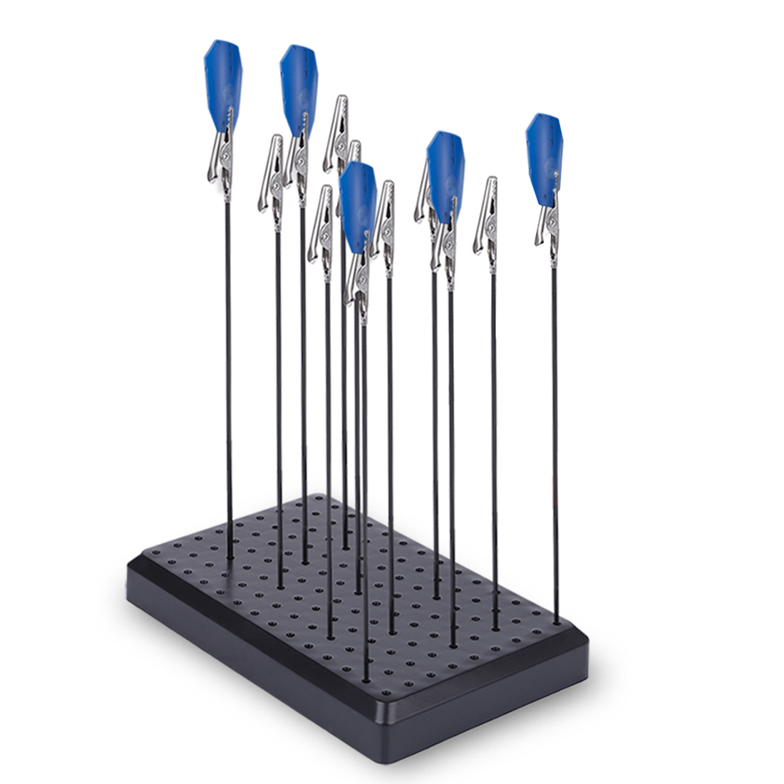 Model Color Tool 9 X 14 Holes Painting Stand Base With 10/20pcs Metal Alligator Clip Stick For Gundam Model Building Tool Sets