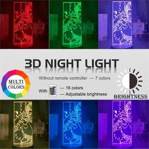 Акриловый 3d ночной Светильник Led Цвет изменение ночной Светильник для детей Спальня украшения светильник аниме Hunter X Hunter Hisoka лампа vitage Dragon