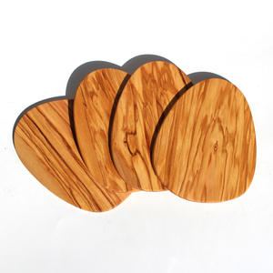 1pc Natural Olive Wood Coasters Cup Mat Tea Coffee Mug Drinks Holder Table Mat Wooden Coasters For Drinks wine glass coaster