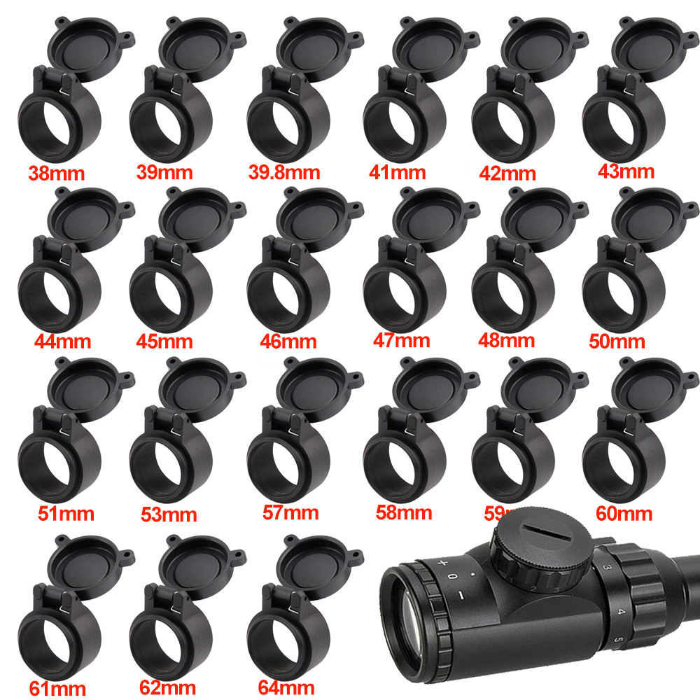 Airsoft Scope Lens Cap Protector Cover Flip Up Quick Spring Telescopic Hunting