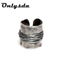 Aço inoxidável viking simples anel do vintage martelo retro punk clássico anel masculino dedo amor jóias para o homem presente atacado osr514