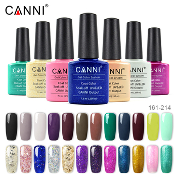 CANNI Enamel Gel Nail Polish Color 128-258 New Hot Nail Art Manicure Fast Dry Base Three Steps Soak off UV LED Nail Gel Lacquer 1