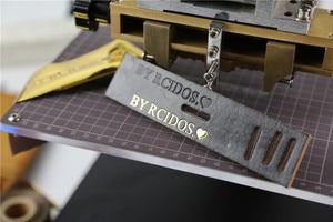Image 5 - Máquina de estampación TF1135 rcidas, color bronce/Máquina de plegado de cuero, máquina de estampación en caliente, relieve de cuero 220V pedido mínimo 5set