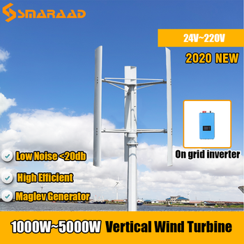 Free Energy Windmill 1000w 2000w 3000w 5000w Vertical Axis Wind Turbine Generator 24v 48v 96v 120v 3 Phase Generator Homeuse 800w 48v wind turbine with 6 blades and free 48v mppt controller small wind turbine for home use