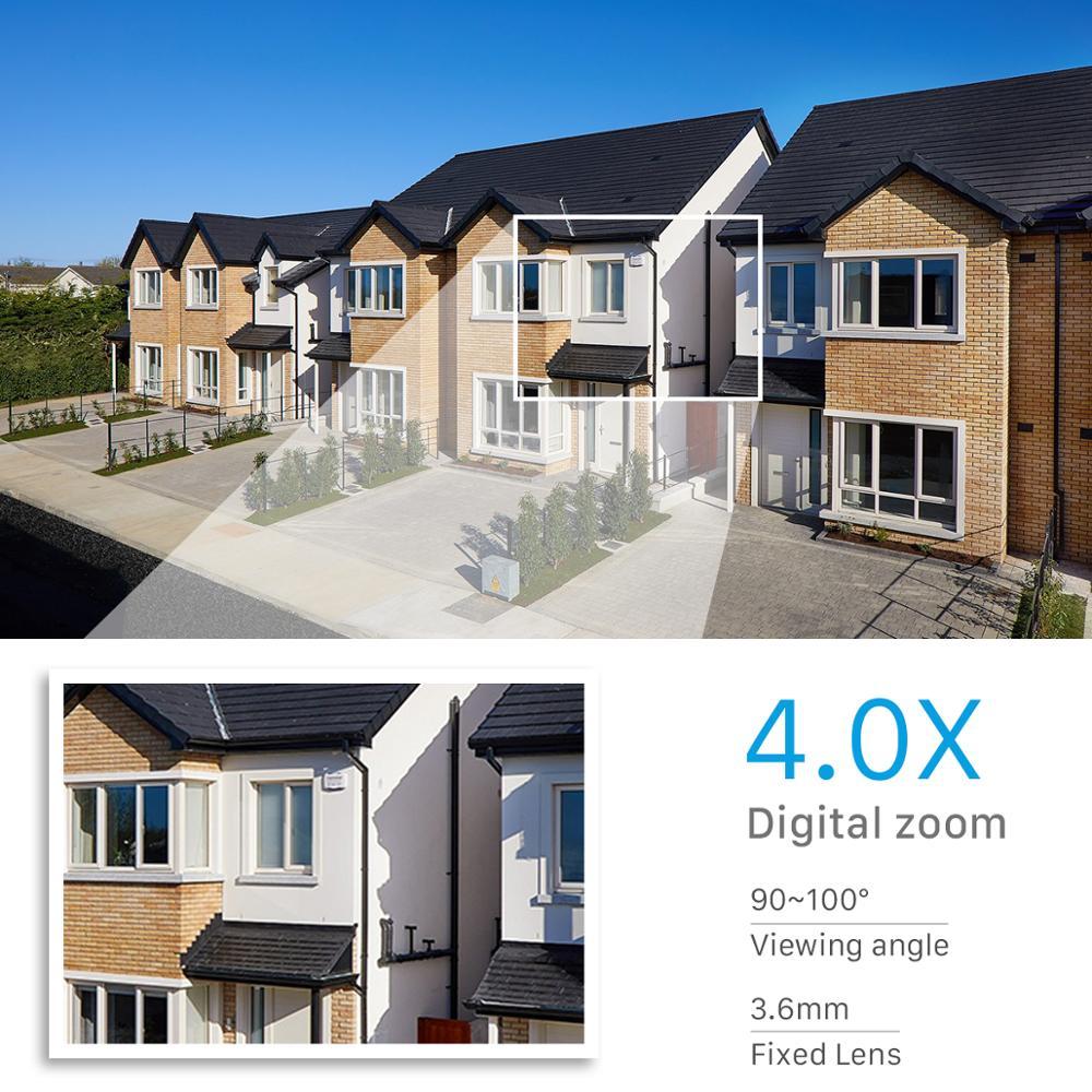 Wifi IP Camera Outdoor 4X Digital Zoom AI Human Detect Wireless Camera 3