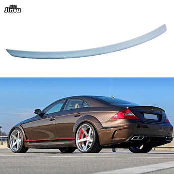For Benz CLS class sedan cls300 cls350 cls500 2004 - 2009 AMG style rear trunk lip W219 PU gary primer spoiler wing carbon fiber rear trunk spoiler for bmw 5 series e60 base sedan m tech m5 2004 2009 rear trunk wing spoiler boot lip