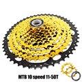 10 скоростей кассета 11-50 т алюминиевый сплав широкое соотношение свободного хода горный велосипед MTB велосипед кассета маховик Звездочка со...