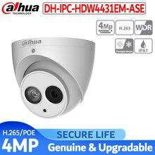 로고가있는 영어 버전 IPC HDW4431EM ASE 4mp ir eyeball 네트워크 ip 보안 카메라 poe 내장 마이크 ip 67 금속 케이스