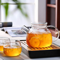 1000ml/1600ml Glass Kettle Water Jug Heat Resistant Teapots with Transparent Lid Home Office 30|Teapots|Home & Garden -
