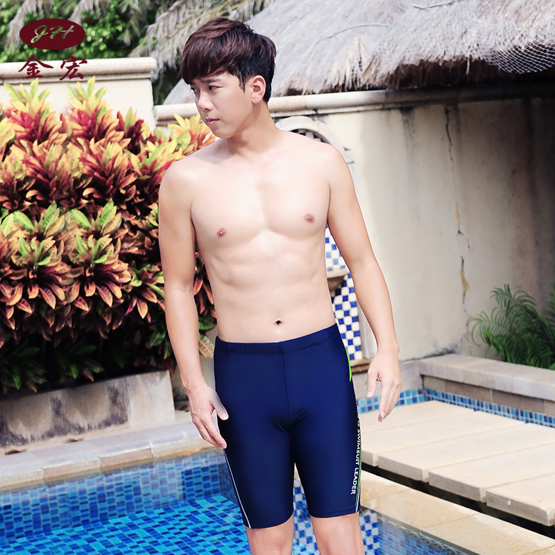 JH 2018 New Style MEN'S Swimming Trunks Sports Profession Boxer AliExpress Swimming Shorts