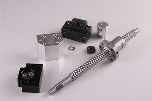 Image 2 - SFU1605 ชุด RM1605 รีดสกรูบอล C7 ด้วยปลายกลึง + 1605 NUT & NUT HOUSING BK/BF12 end สนับสนุน + 8mm x 10mm Coupler