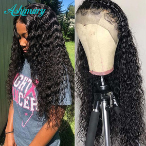 13X4 Lace Front Human Hair Wigs Brazilian Deep Wave Human Hair Wigs Pre Plucked Remy Short Curly Wig For Black Women Closure Wig(China)